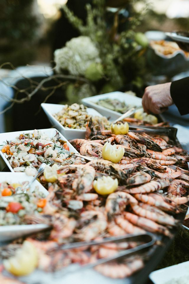 Seafood display by Dickie Brennan Catering. Photo: Malie Lani Photography