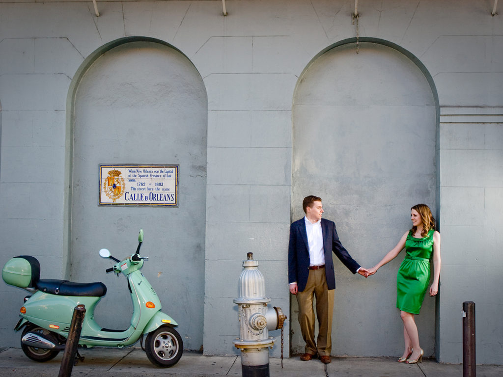 The French Quarter has so much beautiful architecture, and occasionally, impromptu props, such as this Vespa that was parked on the sidewalk. | Photo by Jessica The Photographer