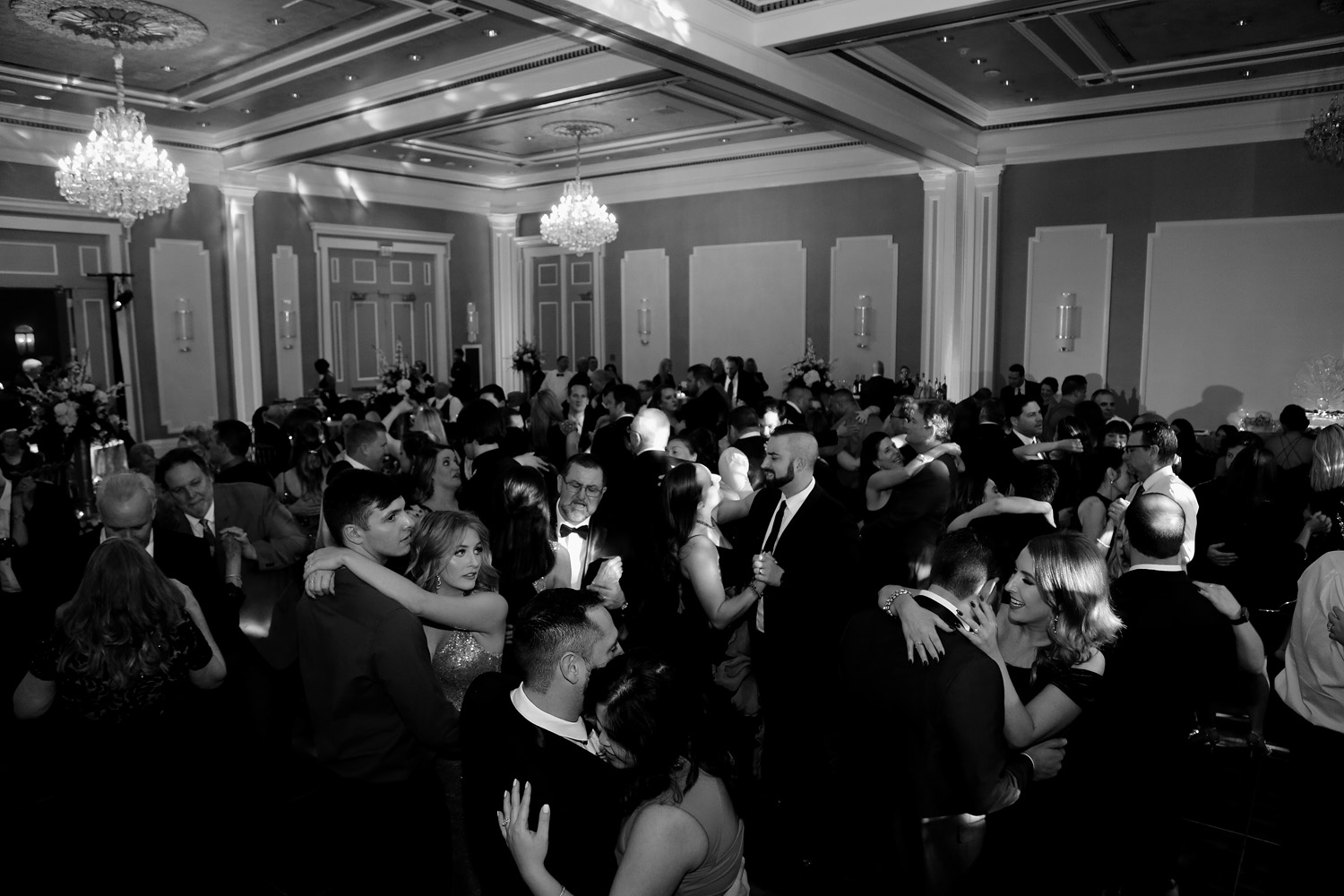 Guests packed the Royal Sonesta's ballroom dance floor and partied til the stroke of midnight!