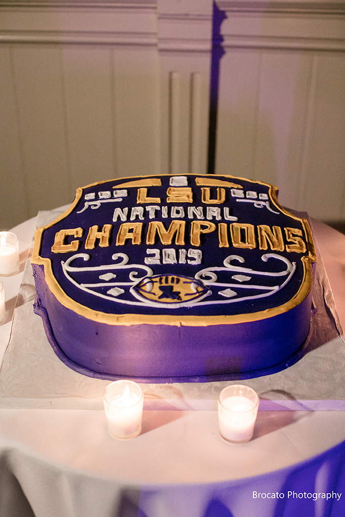 Gambino's Bakery LSU National Champions Cake. Photo: Brocato Photography