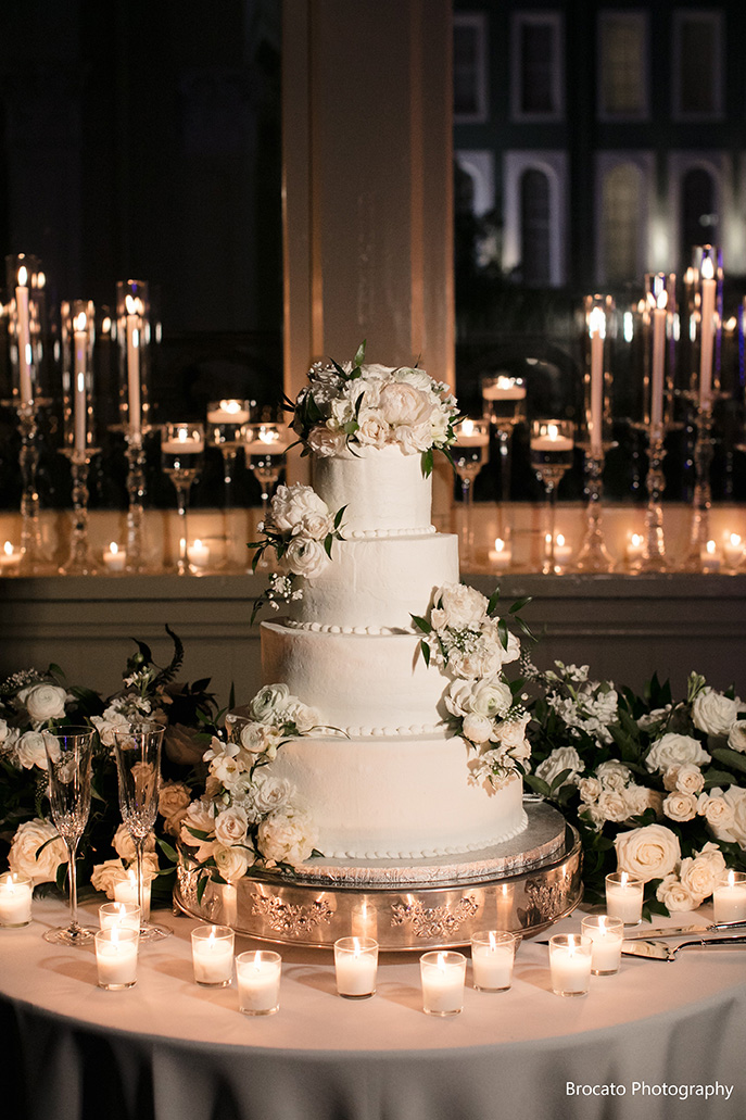 Gambino's Bakery Wedding Cake. Photo: Brocato Photography