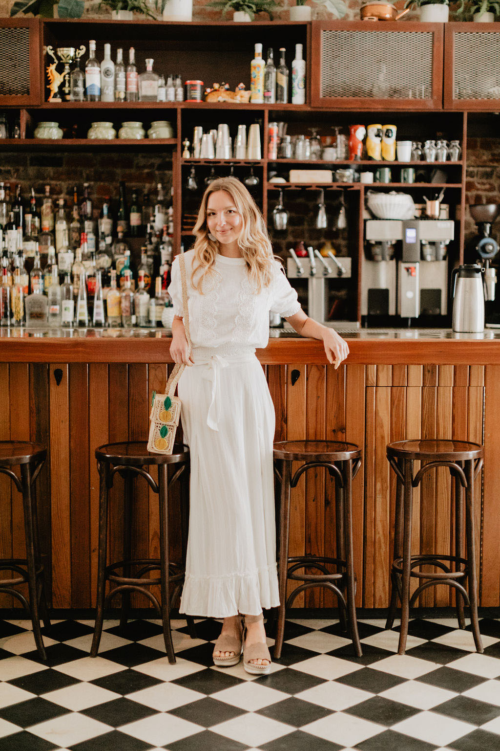 Honey Bee Bride all white ensemble | Photo: Emily Green Photo
