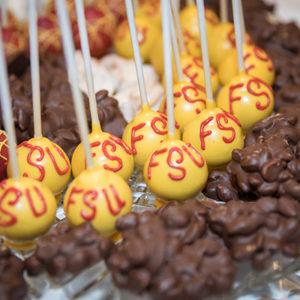 FSU-themed Cake Pops. Photo By Brian Jarreau Photography