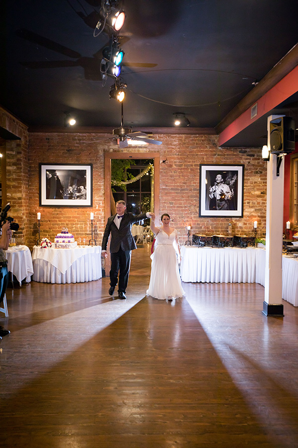 Wedding first dance at Rosy's Jazz Hall in New Orleans. Photo by Brian Jarreau Photography