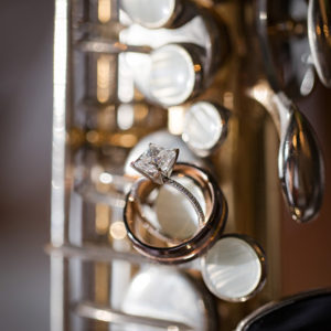 Wedding Rings On Saxophone. Photo By Brian Jarreau Photography