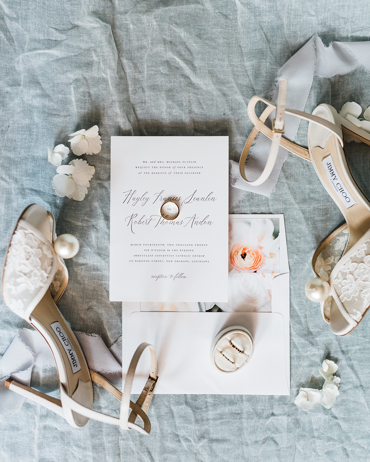 Wedding Detail Flatlay. Gabby Chapin Photography