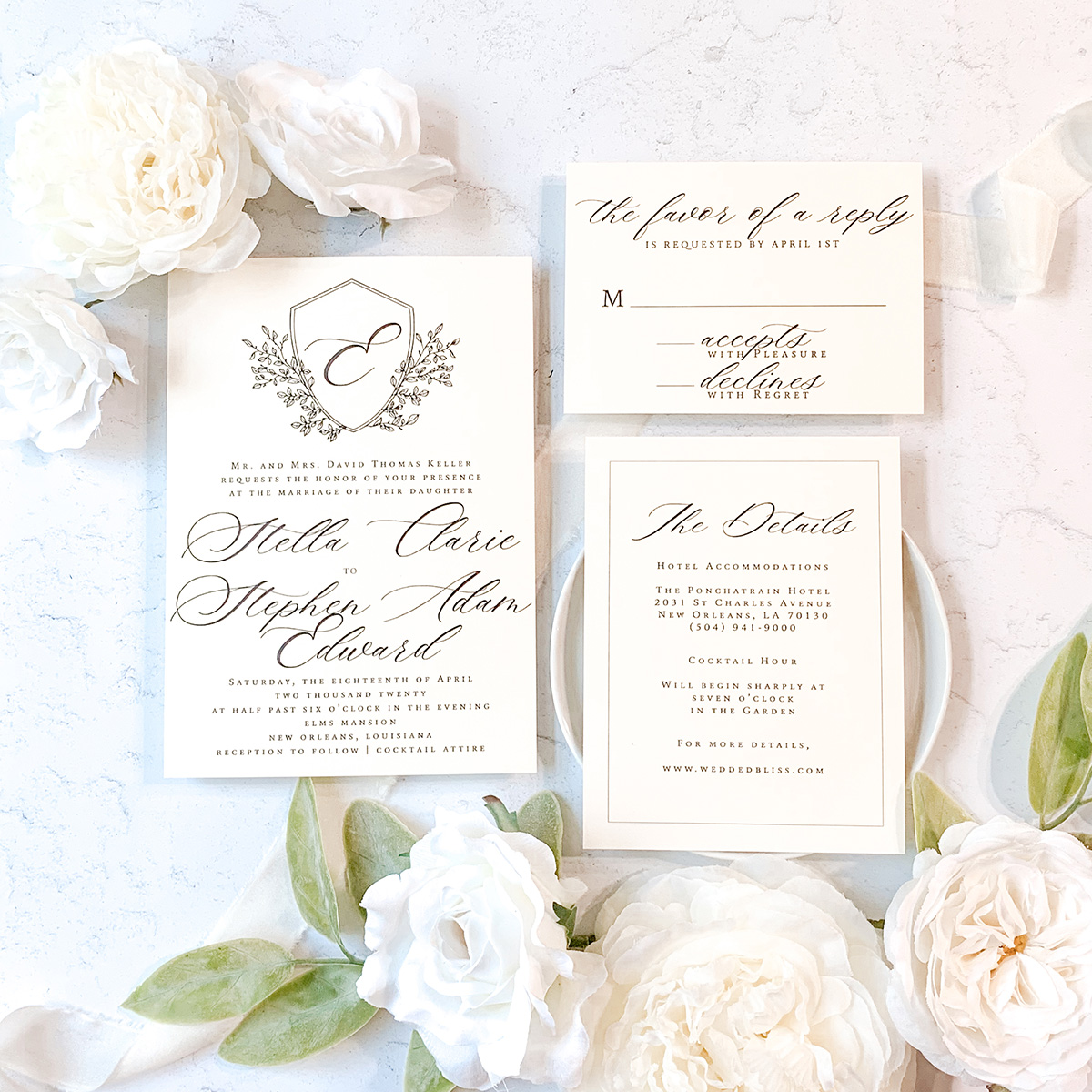 Wedding Invitation by InvitoBella, LLC