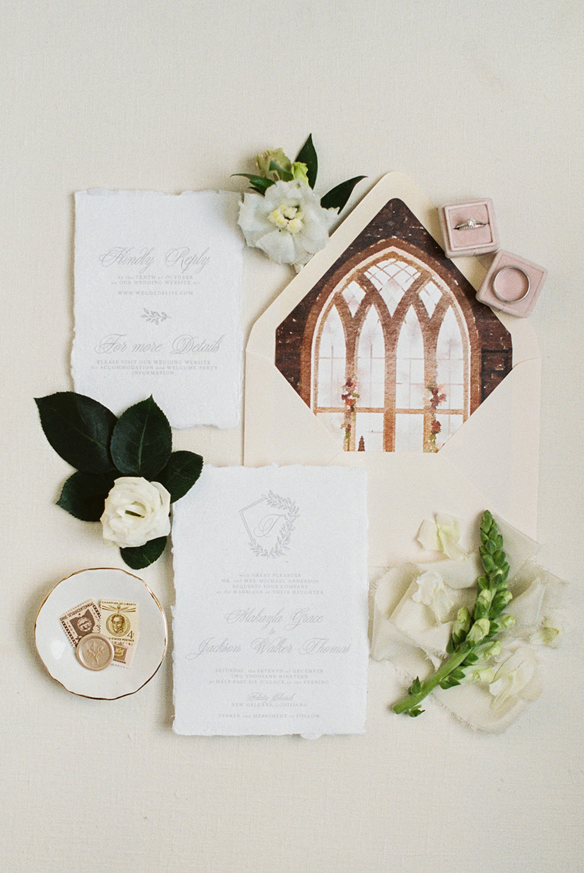 Wedding Invitation Suite by InvitoBella, LLC | Photo by Tasha Rae Photography
