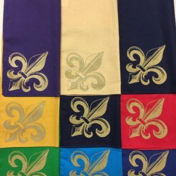 Fleur de Lis handkerchiefs by Second-line Handkerchiefs