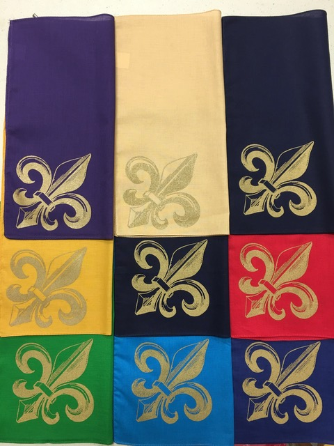 Fleur de Lis handkerchiefs by Second-line Handkerchiefs