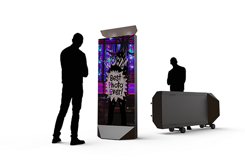 Graphic showing size of photo booth.