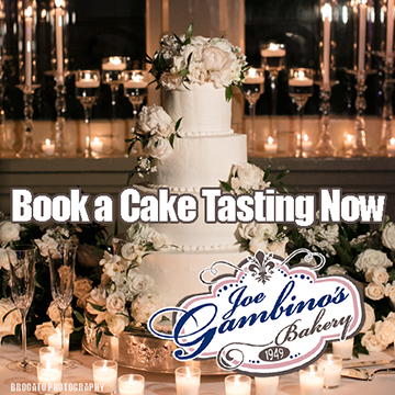 Book a Cake Tasting Now at Gambino's Bakery. Photo by Brocato Photography.