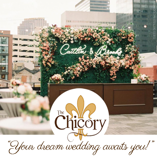 The Chicory rooftop wedding reception. Photo: Greer Gattuso Photography