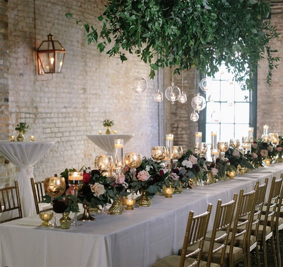 Wedding Reception table at The Chicory. Photo: Greer Gattuso
