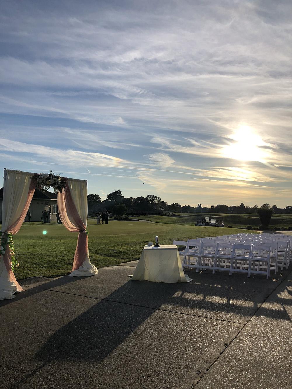 Stonebridge Golf Club outdoor ceremony.