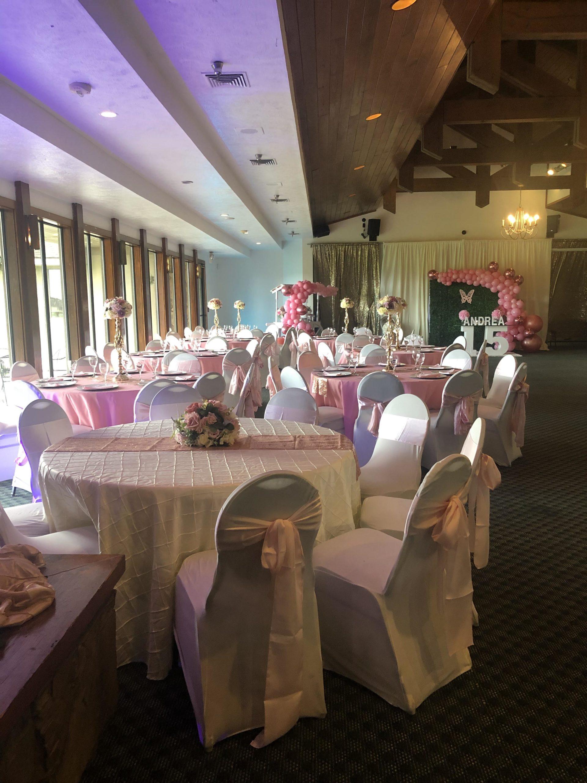 Stonebridge Golf Club ballroom reception.