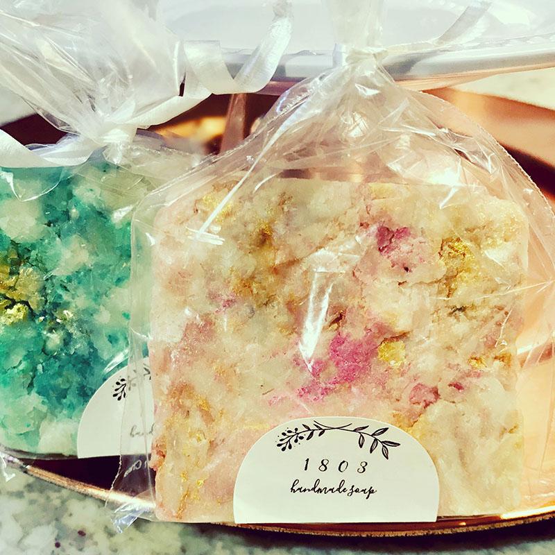 1803 Soap handmade bar soap wedding favors.