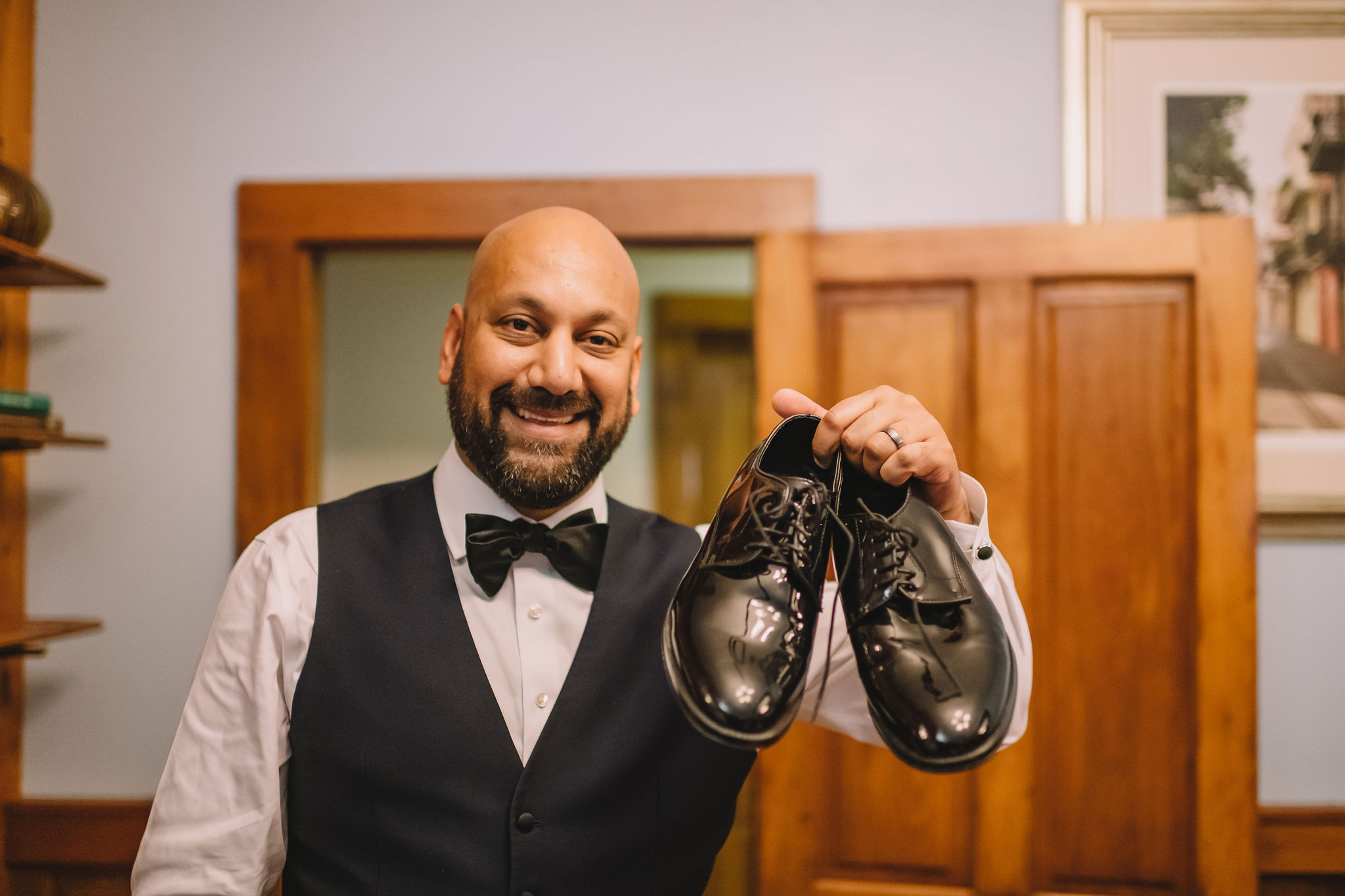 Jimmy finally got his shoes back on the wedding day!