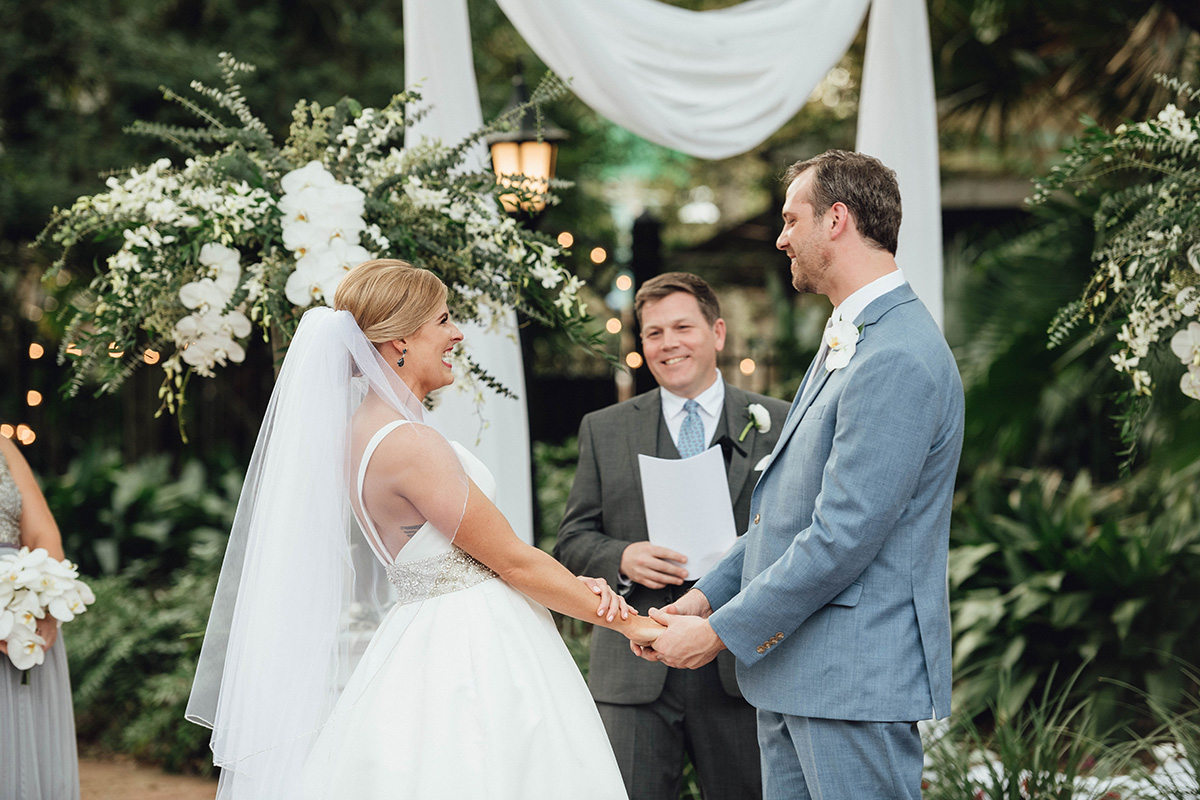 new orleans outdoor wedding at audubon tea room