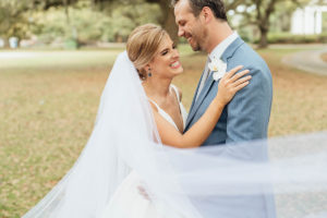 bride and groom candid outdoor wedding photo new orleans