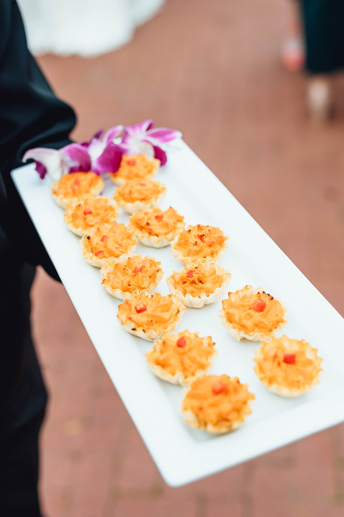 photo of wedding reception hors d'oeuvres