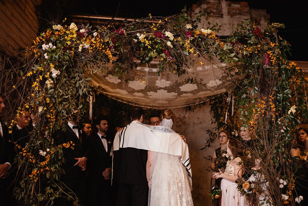 A Jewish ceremony under a chuppah. Photo: Dark Roux