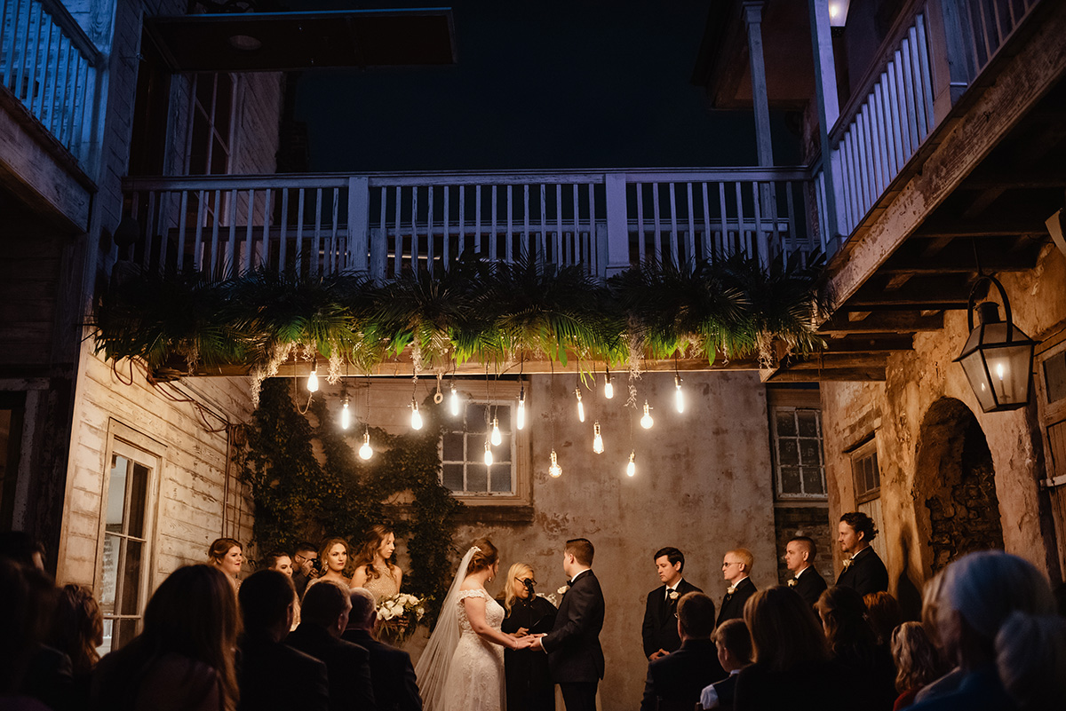 A wedding ceremony under the bridge at Race + Religious in New Orleans. Photo: Dark Roux