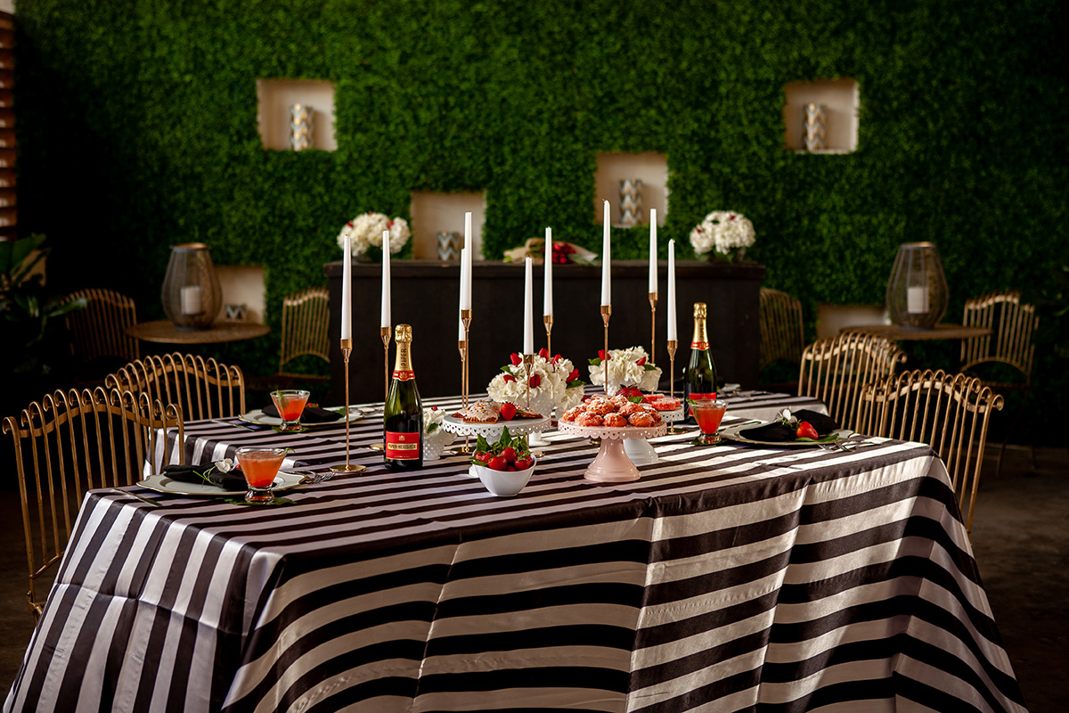 Strawberry themed brunch styled shoot at The Cannery. Photo: Jessica The Photographer