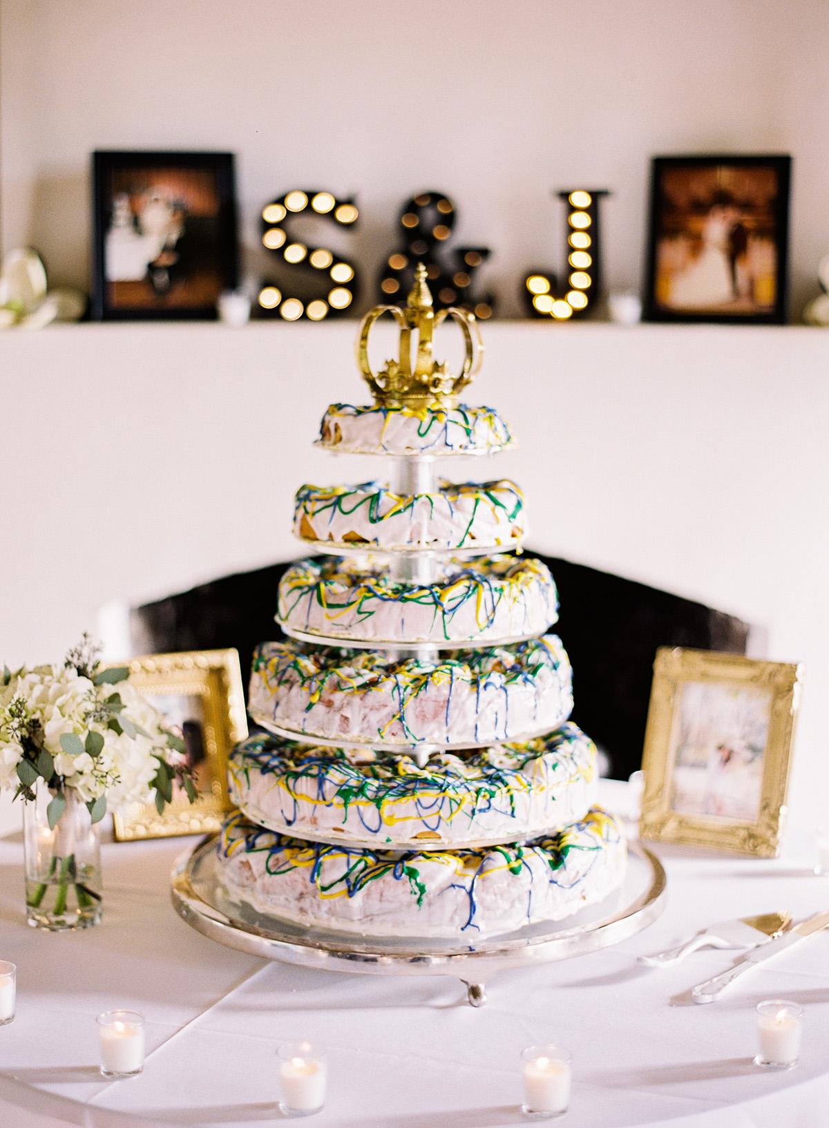 A six tier wedding king cake. Photo: Mon Soleil