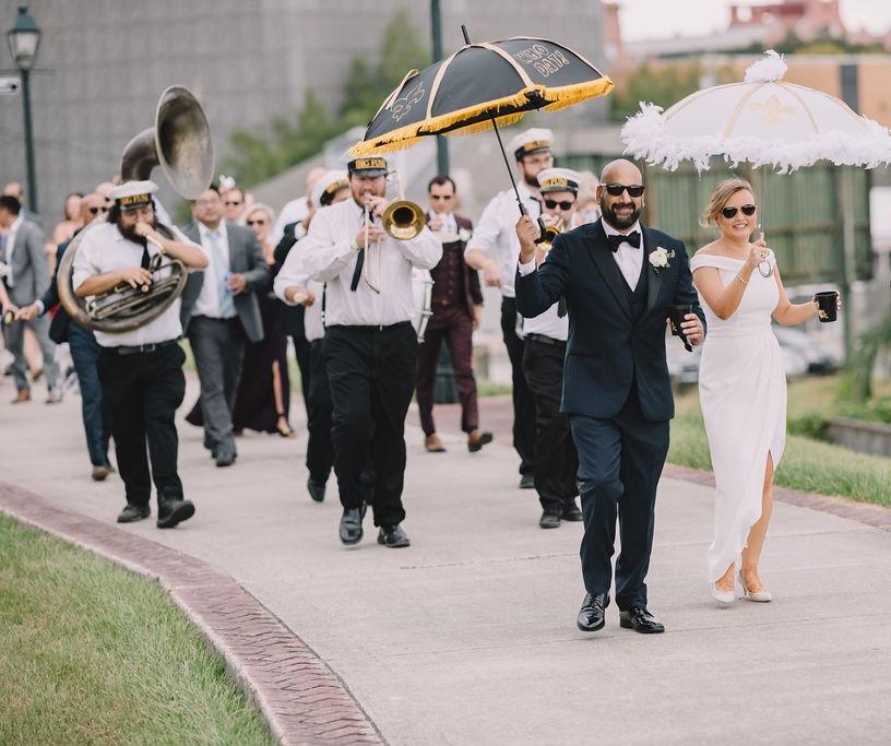 A wedding second line. Photo: Rare Sighting Photography
