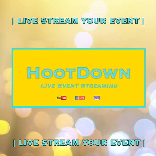 HootDown offers broadcast quality live streaming for events.