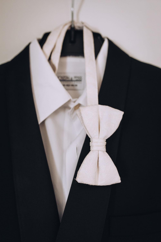 tuxedo and white bowtie