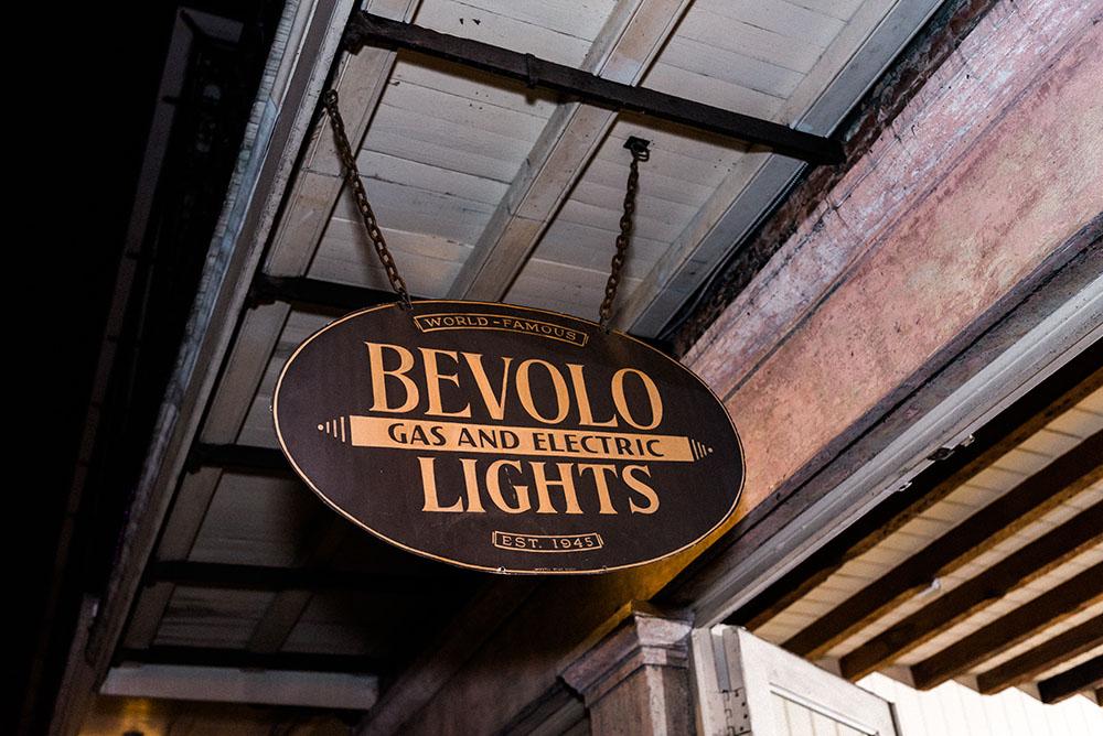 bevolo lights signage