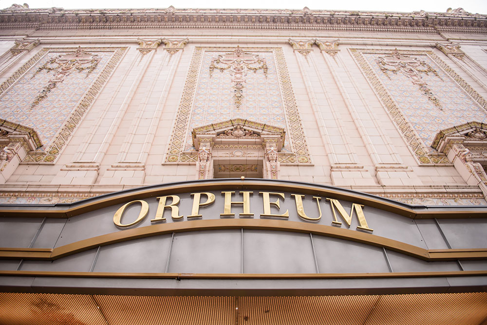 the outside of the orpheum theater