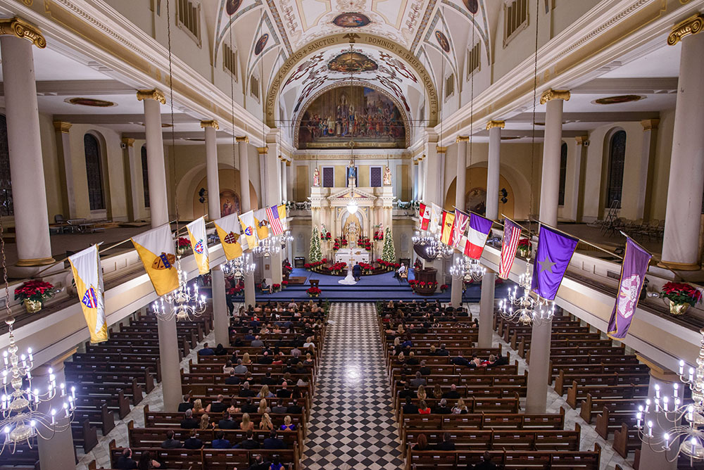 wide shot of st. louis cathedral