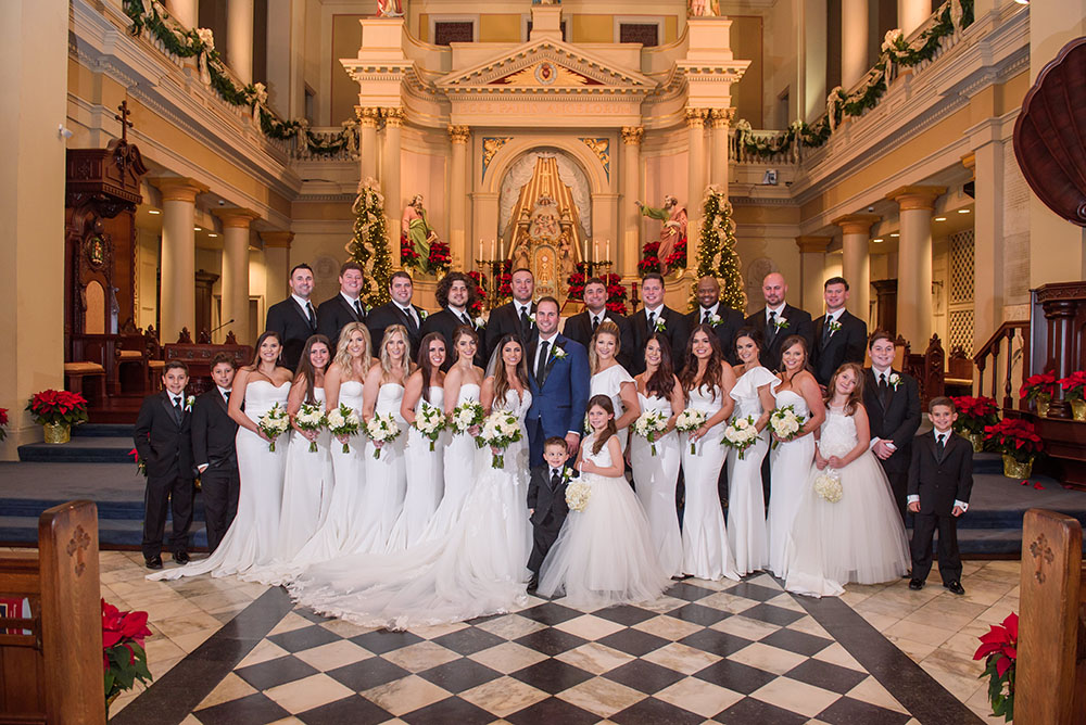wedding party photo at st. louis cathedral