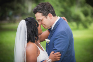 Michael and Kiara embrace at their June Micro Wedding in New Orleans. Photo: Brian Jarreau Photography