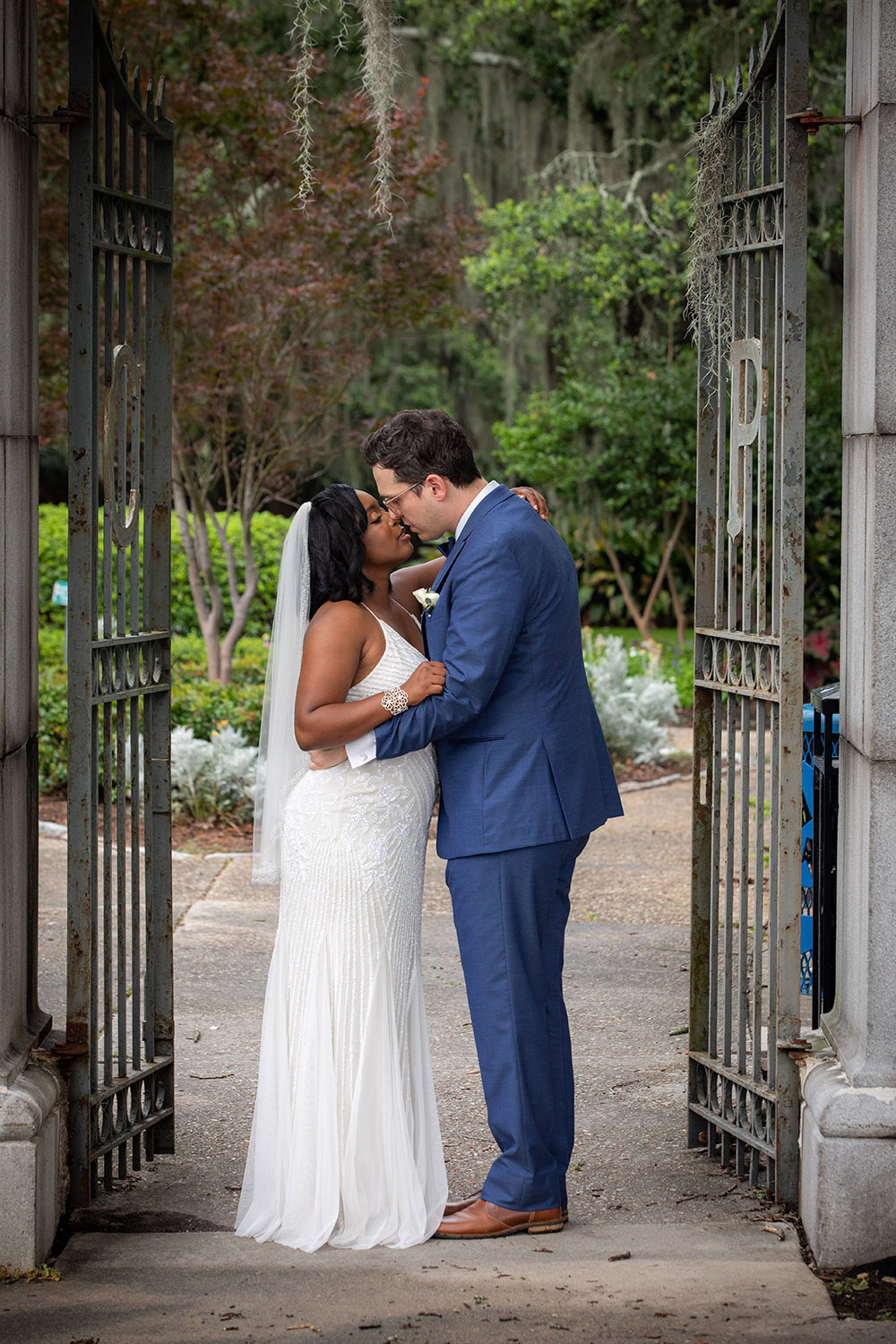 During a break in rain showers, Kiara and Michael were able to take a few photos across the street in City Park. Photo: Brian Jarreau Photography