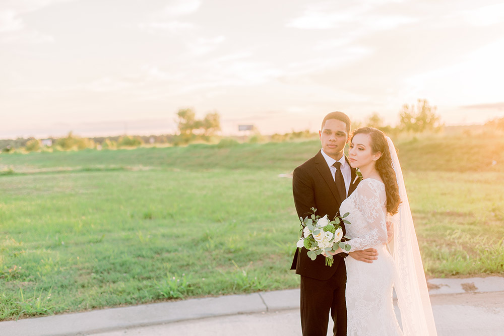 Bride and groom portrait. Photo: Ashley Kristen Photography