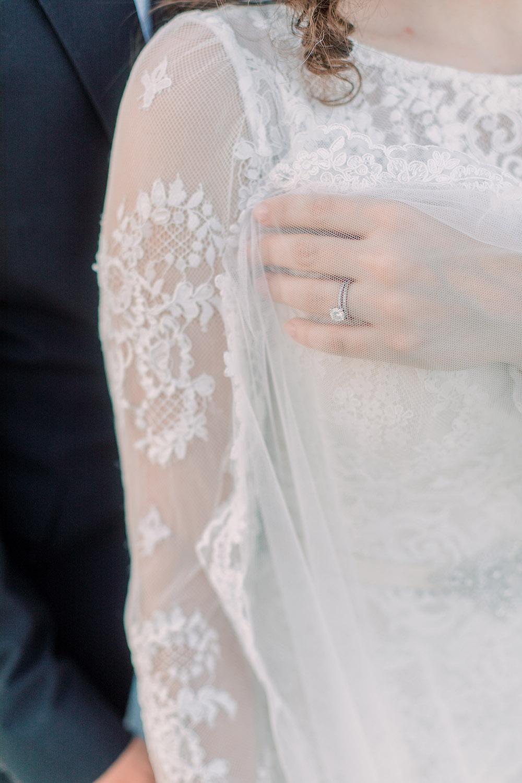 Wedding ring detail. Photo: Ashley Kristen Photography