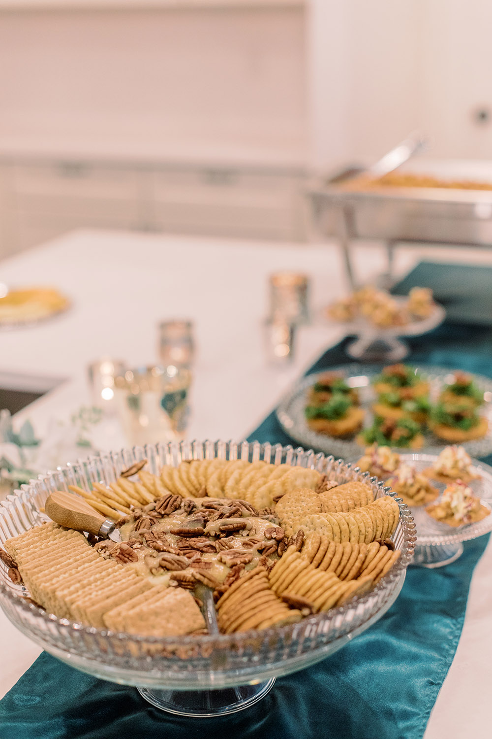 Brie and crackers display. Photo: Ashley Kristen Photography