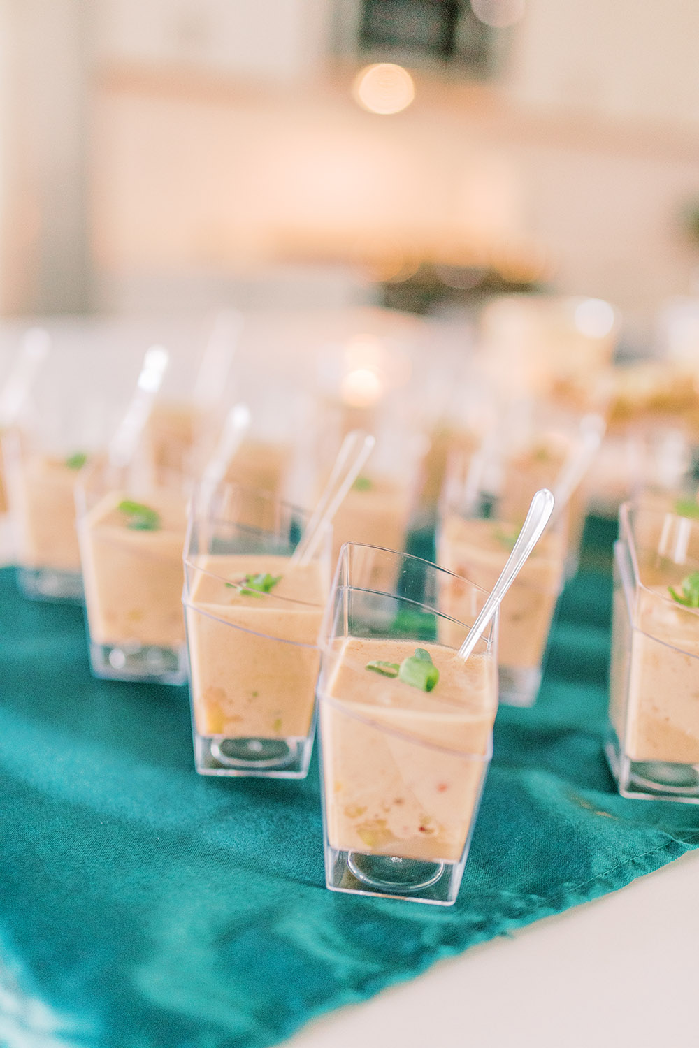 Mini soup shooters. Photo: Ashley Kristen Photography