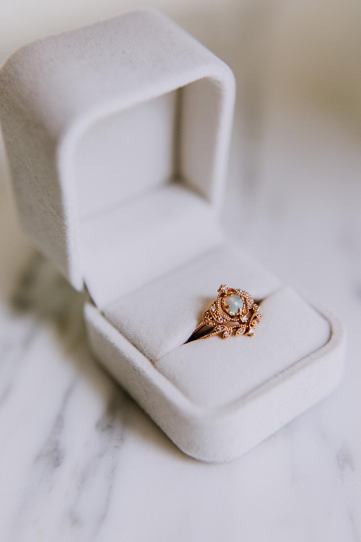 Del's ring by Michellia Fine Jewelry. Photo: Ashley Biltz