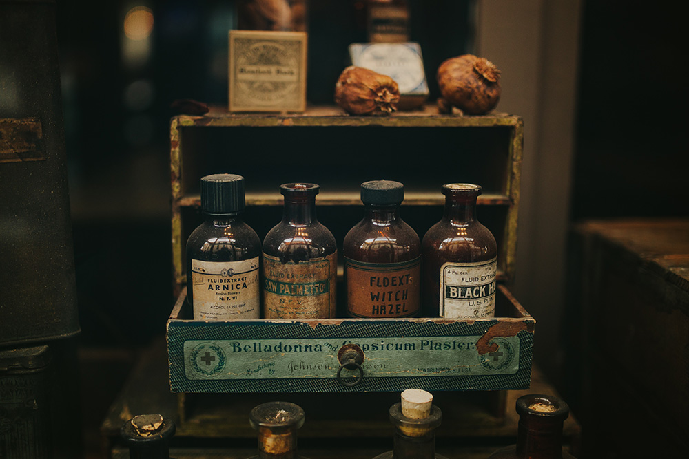 Guests were invited to arrive early and explore the Pharmacy Museum's exhibits prior to the wedding ceremony. Photo: Ashley Biltz