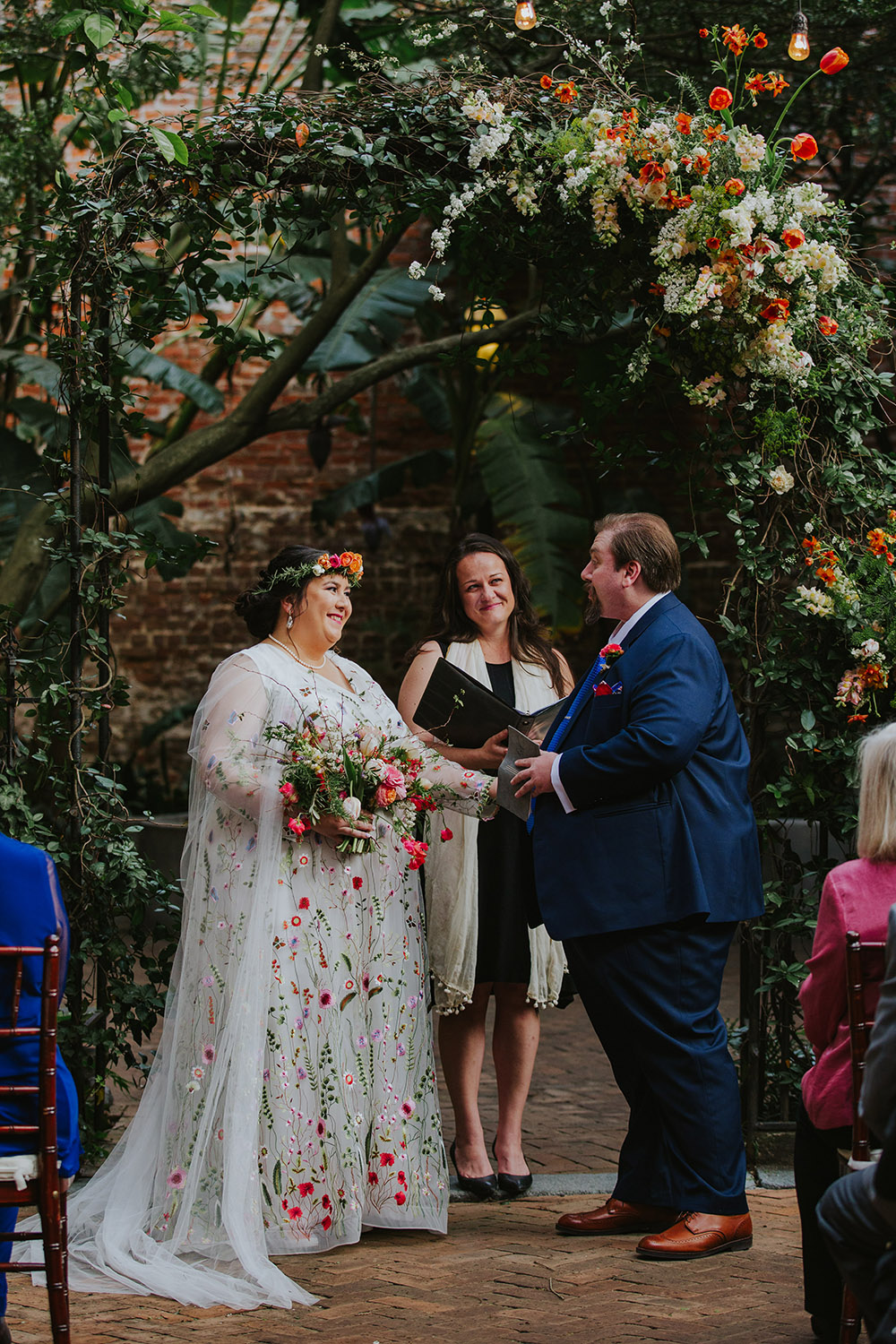 Friend of the couple, Vera Lester, served as officiant for their nuptials. Photo: Ashley Biltz