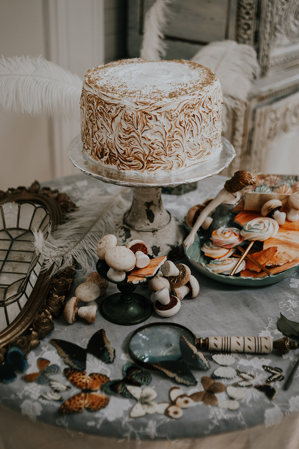 A toasted meringue cake