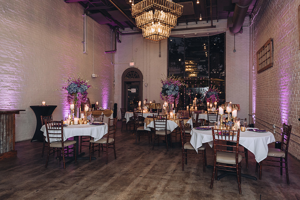 The reception setting at Lulu Restaurant Distillery