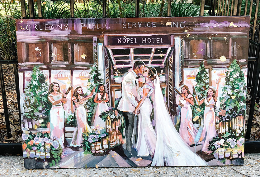 The wedding painting by Pappion Artistry