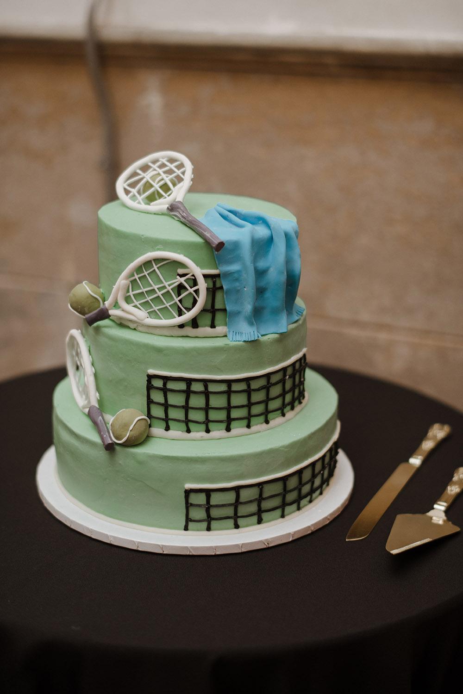 Ross' tennis-themed groom's cake
