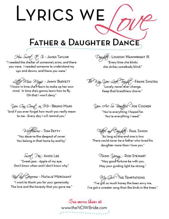 Father Daughter Dance Lyrics